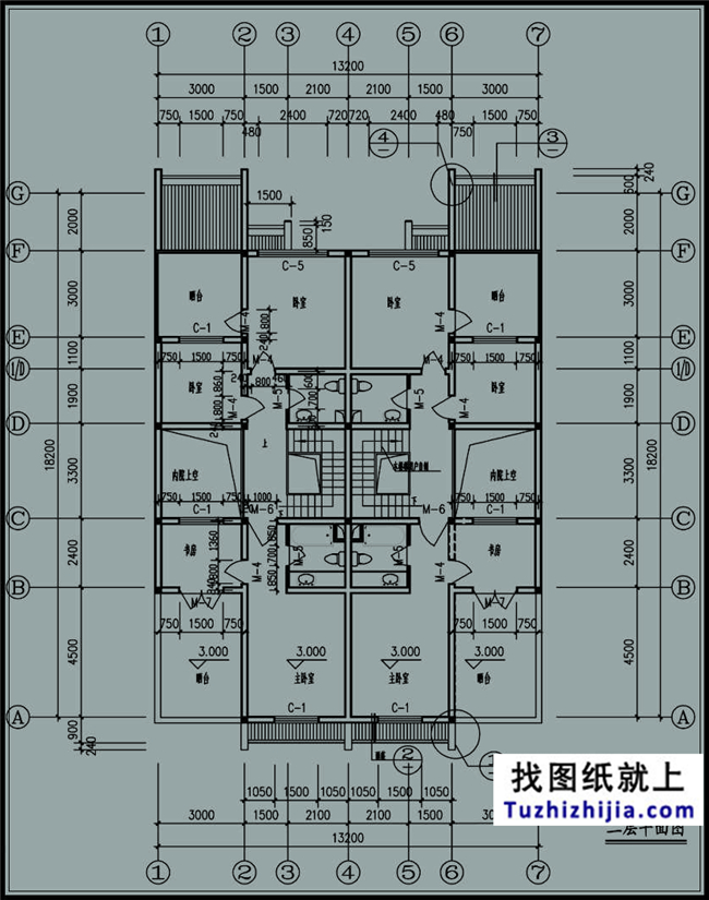 230平方米新农村双拼别墅户型图全套设计方案,13x18米图片